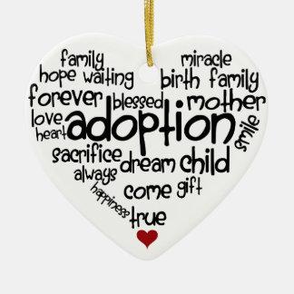 Adoption-words Christmas Ornament