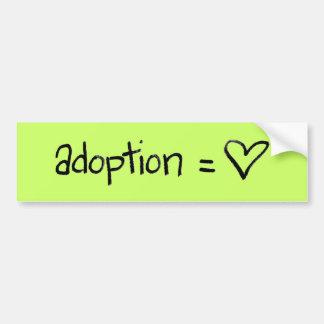adoptionequalslove bumper sticker