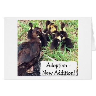"ADOPTON-DUCKS SAY ""FULL HOUSE""/""HAPPY FOR YOU GREETING CARD"