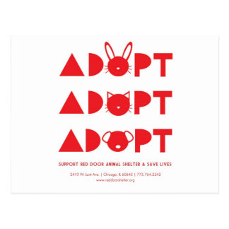 AdoptRedDoor.jpg Postcard