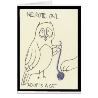 . . . Adopts a Cat Greeting Card