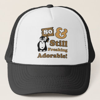 Adorable 80th Birthday Trucker Hat