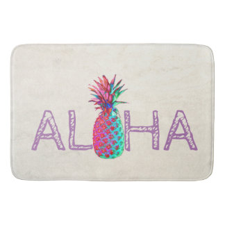 Adorable Aloha Hawaiian Pineapple Bath Mat