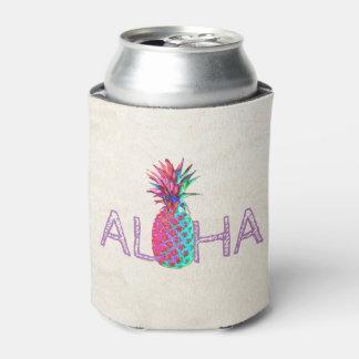 Adorable Aloha Hawaiian Pineapple Can Cooler