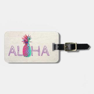 Adorable Aloha Hawaiian Pineapple-Personalized Luggage Tag