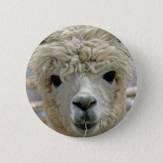 Adorable Alpaca 6 Cm Round Badge