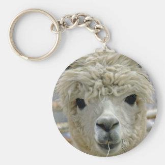 Adorable Alpaca Basic Round Button Key Ring