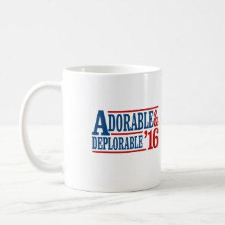 Adorable and Deplorable 2016 - white -- Election 2 Coffee Mug