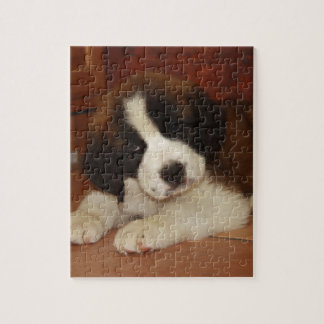 Adorable and Sweet St. Bernard Puppy Jigsaw Puzzle
