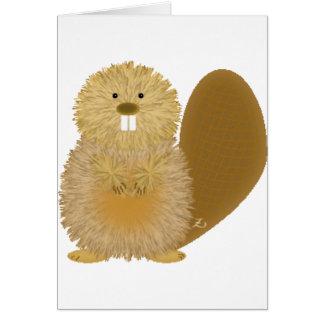 Adorable Animal Drawings: Beaver Card