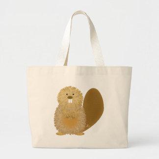 Adorable Animal Drawings: Beaver Jumbo Tote Bag