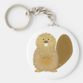 Adorable Animal Drawings: Beaver Key Ring