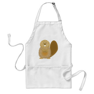 Adorable Animal Drawings: Beaver Standard Apron