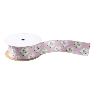 Adorable Baby Lambs  CHOOSE YOUR COLOR Satin Ribbon