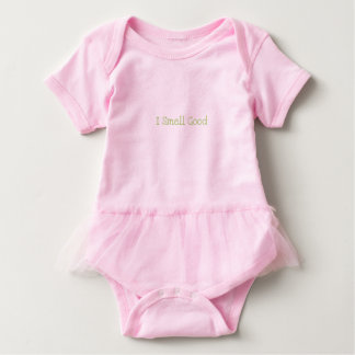 "Adorable Baby Tutu ""I Smell Good"" Baby Bodysuit"