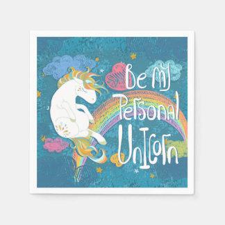 Adorable Be My Personal Unicorn   Napkin Disposable Serviette