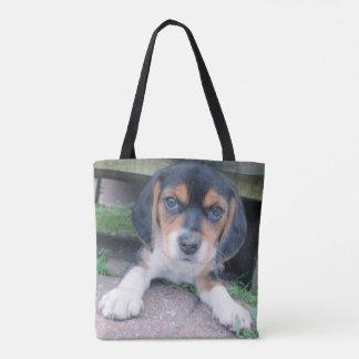 Adorable Beagle Puppy Tote Bag