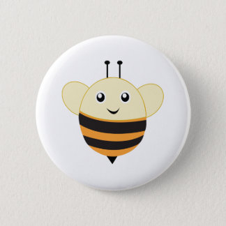 Adorable Bee Little Zoo 6 Cm Round Badge