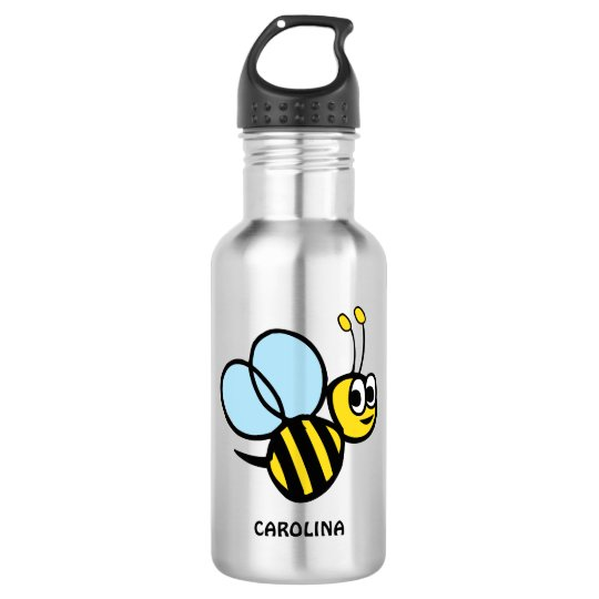 Adorable Bee Personalised Yellow Bumblebee 532 Ml Water