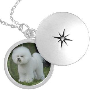 Adorable Bichon Round Locket Necklace