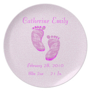 baby birth plates zazzle uk