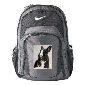 Adorable Black and White Bunny Rabbit Backpack
