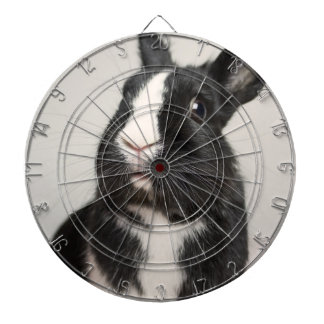 Adorable Black and White Bunny Rabbit Dartboard With Darts