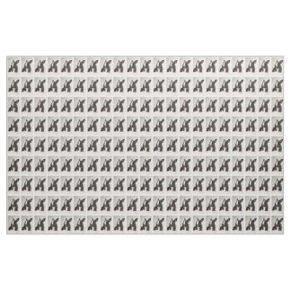Adorable Black and White Bunny Rabbit Fabric