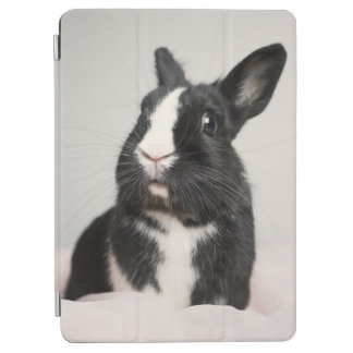 Adorable Black and White Bunny Rabbit iPad Air Cover