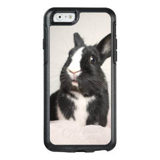 Adorable Black and White Bunny Rabbit OtterBox iPhone 6/6s Case