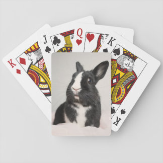Adorable Black and White Bunny Rabbit Playing Cards