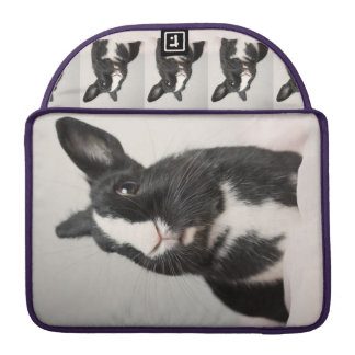 Adorable Black and White Bunny Rabbit Sleeve For MacBooks