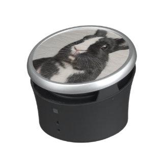 Adorable Black and White Bunny Rabbit Speaker
