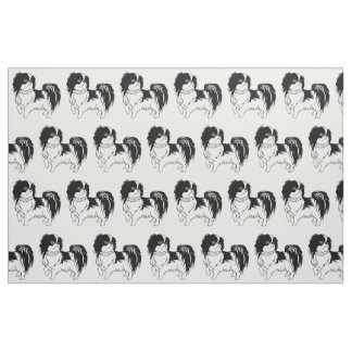 Adorable Black and White Dog Fabric