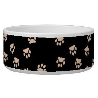Adorable Black Paw Printed Large Dog Bowl