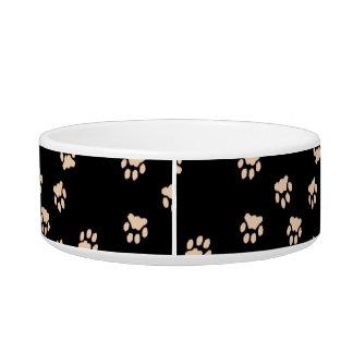 Adorable Black Paw Printed Medium Dog Bowl