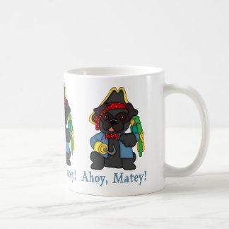 Adorable Black Pug Pirate Costume Tees, Gifts Mugs