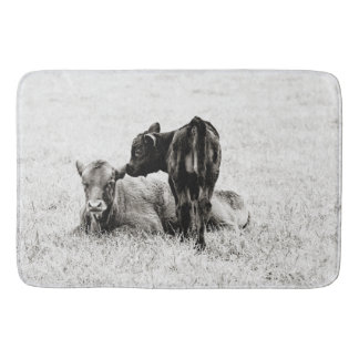 Adorable Black & White Baby Calf Shower Mat