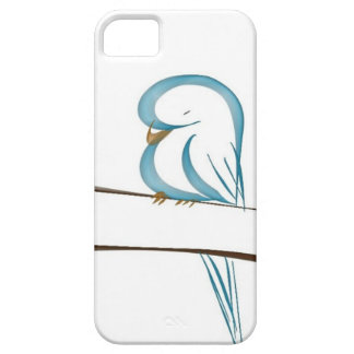 Adorable blue bird sitting on a branch barely there iPhone 5 case