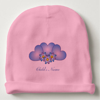 Adorable Blue Hearts Valentine's Day Baby Beanie