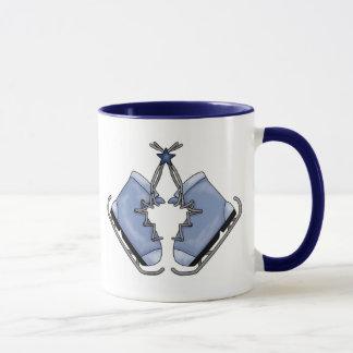 Adorable Blue Ice Skates Coffee Mug