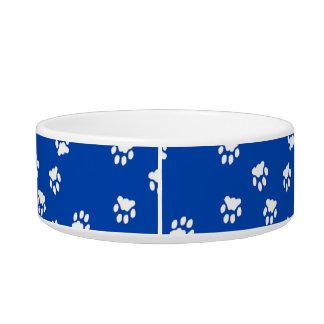 Adorable Blue Paw Printed Medium Dog Bowl
