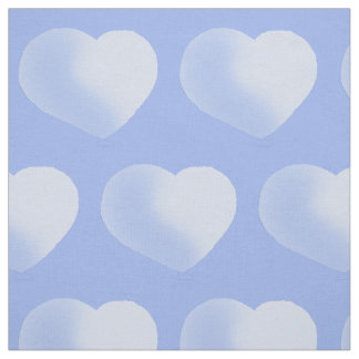 Adorable Blue Polka Hearts Baby Boy Nursery Fabric