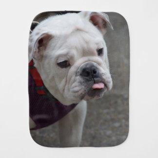 Adorable Bulldog Baby Burp Cloths