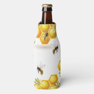 Adorable Bumble Bee Pattern Bottle Cooler