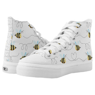 Adorable Bumble Bee Pattern High Tops