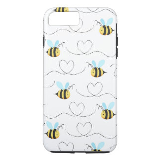 Adorable Bumble Bee Pattern iPhone 8 Plus/7 Plus Case