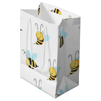Adorable Bumble Bee Pattern Medium Gift Bag