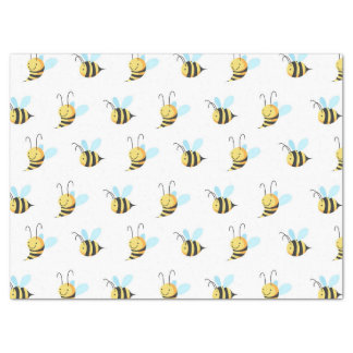 Adorable Bumble Bee Pattern Tissue Paper