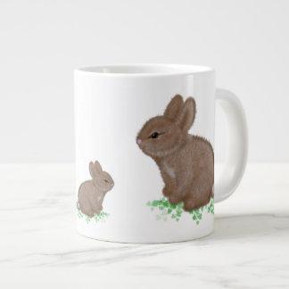 Adorable Bunnies in Clover Jumbo Mug